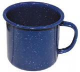 Tasse Emaille blau 350 ml